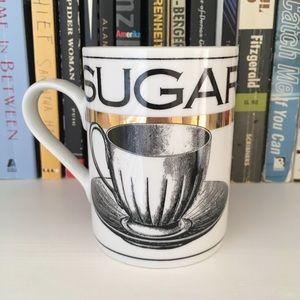 Gold and White Sugar Teacup Mug